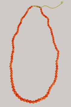 In the Swan's Shadow: Strand of coral beads, ca. 1850