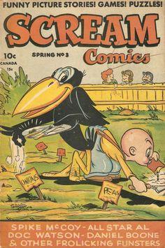 Comic Book Cover For Scream Comics #3