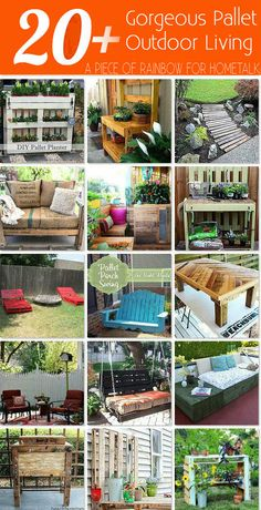Over 30 inspiring DIY Outdoor Pallet projects from pallet coolers, pallet swings, pallet daybeds, pallet chair and sofa, to pallet… Outdoor Pallet Projects, Wood Projects, Woodworking Projects, Pallet Ideas, Pallet Crates, Wooden Pallets, Pallet Wood, Palette Diy, Pallet Designs