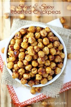 Well, the holidays are over, and it's time to start thinking about New Year's resolutions and healthier eating. And when it comes to something to munch on between meals or for a late night snack, these Sweet and Spicy Roasted Chickpeas are one of my favoritehealthy snacks. The first time I made these, they popped …