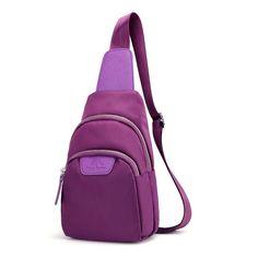 Women Nylon Waterproof Light Small Chest Bag Shoulder Bag is designer, see other cute bags on NewChic. New Look Handbags, Cheap Handbags, Black Handbags, River Island Handbags, Clutch Bag, Crossbody Bag, Bag Packaging, Small Shoulder Bag, Cute Bags