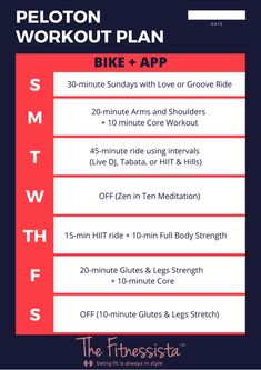 How to combine Peloton with other workouts (+ sample workout plans!) - The Fitnessista - How to combine Peloton with other workouts ( sample workout plans! Treadmill Workouts, Workout Routines, Spin Bike Workouts, Cardio, How To Have A Good Morning, Weekly Workout Plans, Weekly Workouts, Workout Planner, Exercise Plans