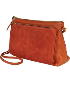 Rust Gosee Clutch by Clare Vivier