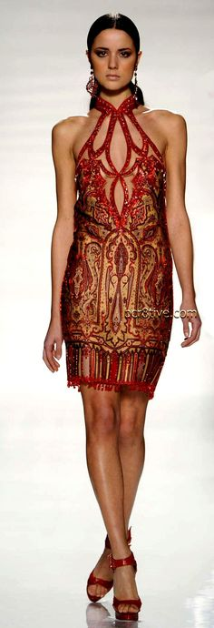 BORDEAUX & RED PRINTED DRESSES