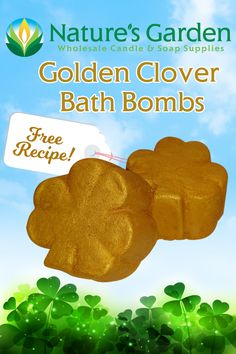 Free Golden Clover Bath Bomb Recipe by Natures Garden