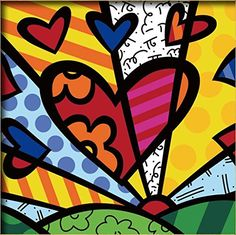"Diy oil painting, paint by number kits for kids - Colorful heart 8""X 8"". -- See this great image @"