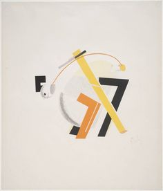 El Lissitzky8. Old Man (Head 2 Steps behind) 1923