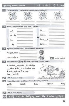 Album Archive - Gyakoroljuk a helyesírást Multiple Disabilities, Thing 1, Grammar, Worksheets, Homeschool, Bullet Journal, Album, Teaching, Writing