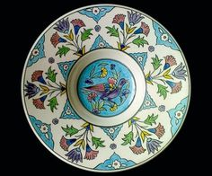Çiniler – Sayfa 4 – Amorf Designers Ceramic Plates, Decorative Plates, Traditional Tile, Turkish Tiles, Glazes For Pottery, Glazed Pottery, Pottery Painting, Painted Pottery, Tile Art