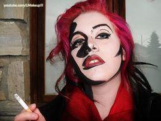 sin city inspired makeup