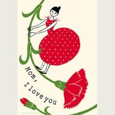 母の日のカードのアイデア☆普段言えないことをカードが代弁「Mom, I love you」♡