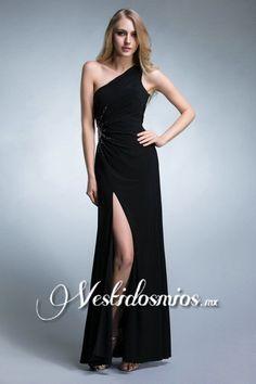 Chiffon Solo-Hombro Abertura Lateral Vestido Largo de Damas de Honor VP004 [VP004] - Mex$2,904