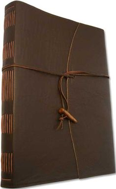 Leather journal by Bookseed - Leather Strap with Pendant Toggle
