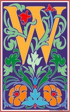 Vincent style letter W