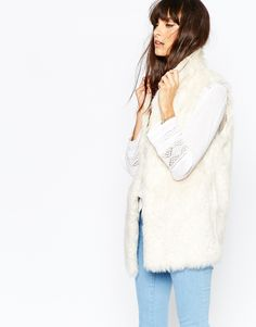 Vanessa Bruno Athe Derby Vest in Faux Fur