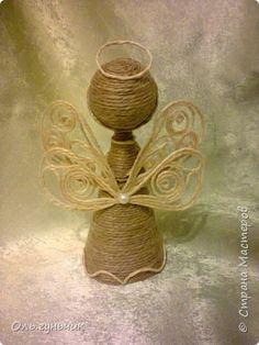 Поделка изделие Новый год Моделирование конструирование Ангелочки и доделки Шпагат фото 4