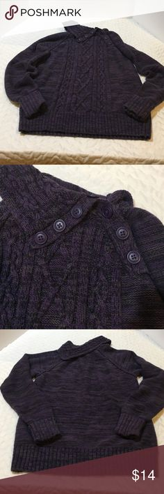 Sonoma Life & Style Purple Sweater Sonoma Life & Style Purple Sweater. It has shades of gray and black on it as well. Gently worn. Very cozy. Please let me know if you have questions. Sonoma Sweaters Cowl & Turtlenecks