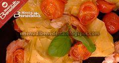 I Menu di Benedetta | Molto Bene: Lasagnette ai Pomodorini e Gamberi Menu, Stuffed Peppers, Vegetables, Food, Google, Menu Board Design, Stuffed Pepper, Essen, Vegetable Recipes