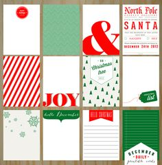 December Joys - December Daily Inspired Printable Cards