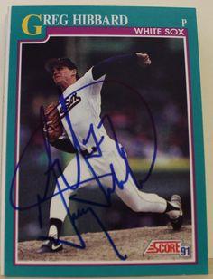 Greg Hibbard Chicago White Sox Autographed 1991 Score Card