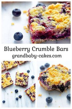 These Easy Blueberry Crumble Bars are filled with sweetened plump, juicy vanilla and citrus hinted blueberries then layered on top of a shortbread crust and topped with a buttery crumble! These are so addictive! Blueberry Crumble Bars, Delicious Desserts, Dessert Recipes, Brownie Bar, Summer Fruit, Savoury Dishes, Holiday Desserts, Brownie Recipes, Dessert Bars