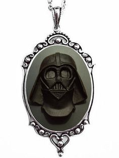 """Darth Vader"" Cameo Necklace by Couture By Lolita (Black/Grey) #InkedShop"