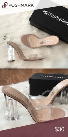 6f36549710e4f Clear block heel sandal From Pretty Little Thing