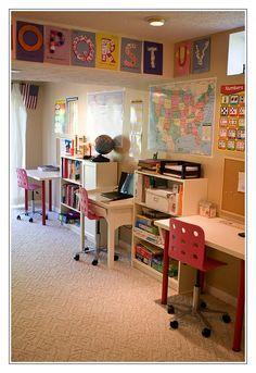 Basement Homeschool Room