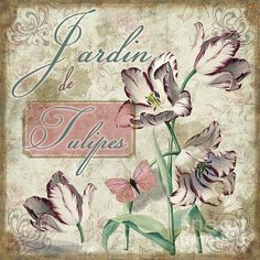 Jardin De Tulipes Print by Mindy Sommers