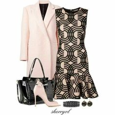 clothes,dailylook-look clothes dailylook fashiongirl fashionista fashionstyle style glam womenswear womenstyle womenfashion fashionlook Classy Dress, Classy Outfits, Casual Outfits, Cute Outfits, Work Fashion, Fashion Looks, Fashion Design, Fashion Tips, Complete Outfits