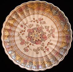 Brown Aesthetic Transfer Charger Platter ~ PUZZLE 1885