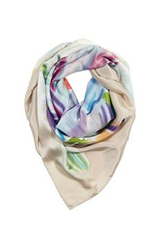 TexereSilk Women's 100% Silk Square Fashion Scarf (Multicolor, Unisize) Unique Gifts for Her AS0027-MTC-U * Want additional info? Click on the image. #Scarf