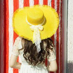 Candy Colors Wide Brim Floppy Sun Hat 1430c676b297