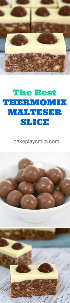 Malteser Slice – C… It's no surprise that this is the most popular recipe on Bake Play Smile. I love this No-Bake Malteser Slice so much… and have made it about a zillion times! Malteser Slice, Malteser Cupcakes, Baking Recipes, Dessert Recipes, Cake Stall, Delicious Desserts, Yummy Food, Thermomix Desserts, Tray Bakes