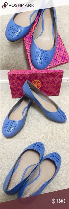 Tory Burch Lowell 2 Ballet Flat - chambray Tory Burch Lowell 2 Ballet Flat - chambray - size 8,5 (its too big for me) - come with a box Tory Burch Shoes Flats & Loafers