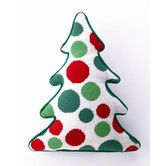 Found it at Wayfair - Dots Tree Shaped Wool / Cotton Pillow