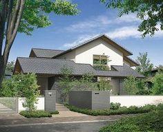 Japan Modern House, Modern Tropical House, Modern House Plans, Tropical Houses, Modern House Design, Japan Architecture, Tropical Architecture, Architecture Design, Arch House