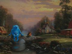In 're-directed paintings', artist David Irvine finds old or discarded thrift store paintings and adds recognizable characters into them. Art Painting Images, Old Paintings, Thrift Store Art, Art Store, Art And Illustration, Art Altéré, Art Ancien, Inspiration Art, Monster Art