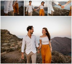 Santorini and it's beautiful villages Oia, Imerovigli and Firostefani are one of the most romantic and dreamiest places to elope and get married. This romantic couple shoot shows the beauty of Santorini on the caldera edge with a view! Most Romantic, Romantic Couples, Got Married, Getting Married, Kitten Rescue, Santorini Wedding, Stunning View, Couple Shoot, Photo Shoot