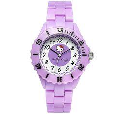 Hello Kitty Watch, Women's Purple Plastic Bracelet 35mm H3WL1004PR