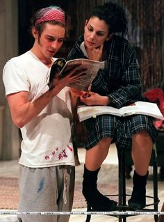"""Lee Pace on stage in play """"The Credeaux Canvas""""  2001"""