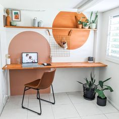 Home Office Design, Home Office Decor, House Design, Home Office Paint Ideas, Interior Office, Office Walls, Office Ideas, Decoration Inspiration, Wall Paint Inspiration