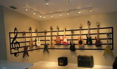 Great Room Guitar Display, 17 x 14 Great Room converted to a display/performance area., Full View 1, Living Rooms Design                                                                                                                                                                                 More
