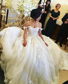A custom ball gown wedding dress like this can be created for a bride of any shape or size. Changes to designs are always welcome. We can even make #replicas of couture designs for brides who can't afford the original. Find more information at www.dariuscordell.com/