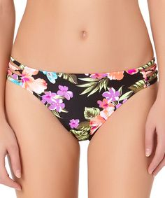 This Black Floral Bikini Bottoms by InMocean is perfect! #zulilyfinds