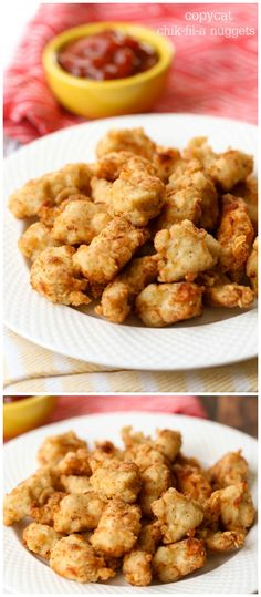 Copycat Chik-Fil-A nuggets - these are so good and taste just like the real thing!! Recipe on { lilluna.com }