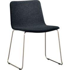 grey felt chair