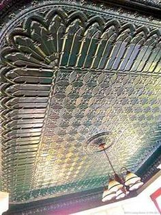 Tin ceiling in a victorian home                                                                                                                                                                                 More