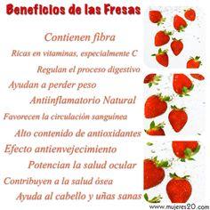 Descubre los beneficios de las Fresas