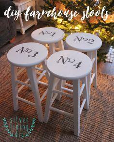 DIY farmhouse painted stools